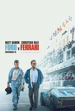 This is a poster for Ford v Ferrari