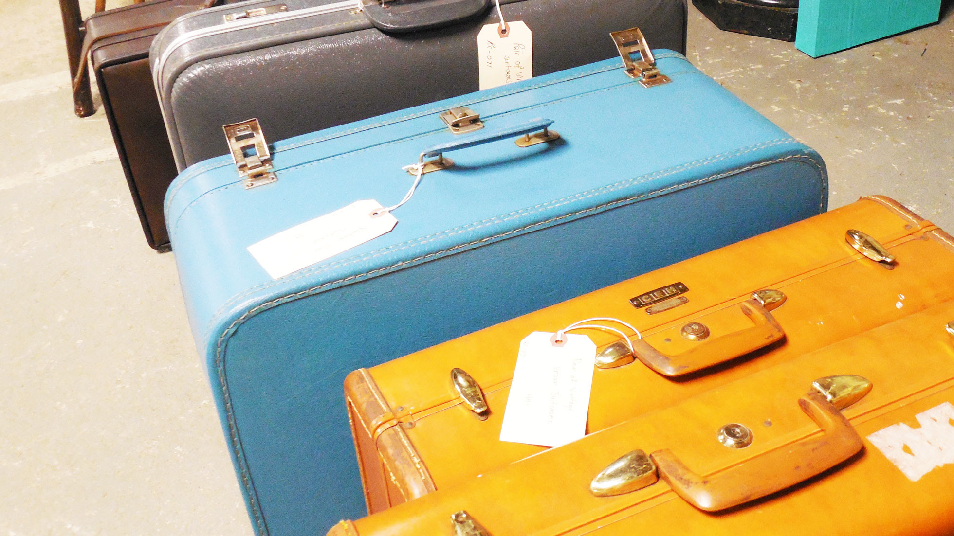 International visitors represented by different pieces of luggage