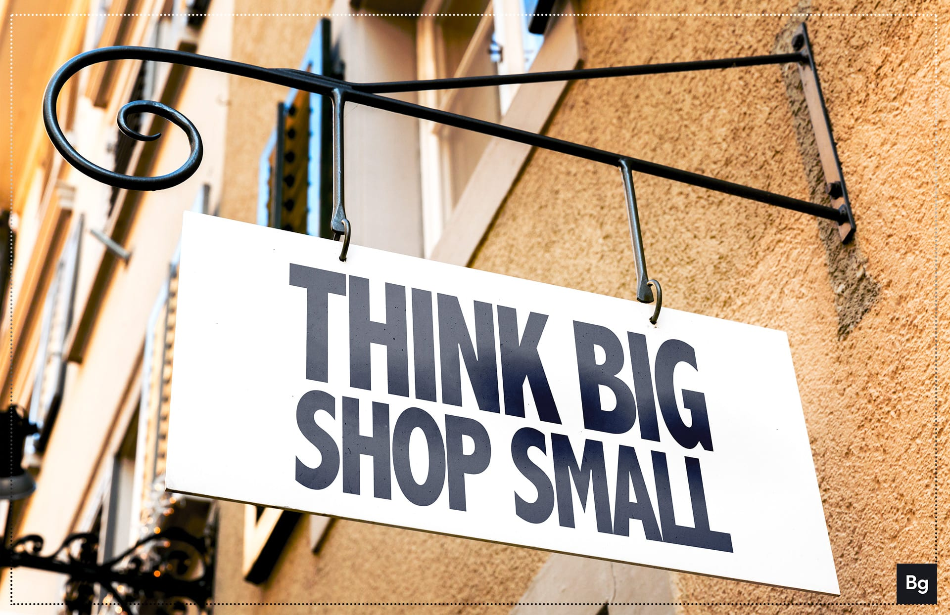 Think Big Shop Small. Incentive for local SEO